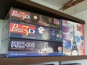 3D PUZZELS BRAND NEW 2 HAVE NEVER BEEN USED