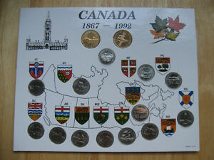 1867-1992 Canadian Coin Set