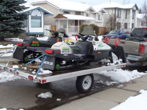 LIKE NEW 2 sled trailer       AVAILABLE