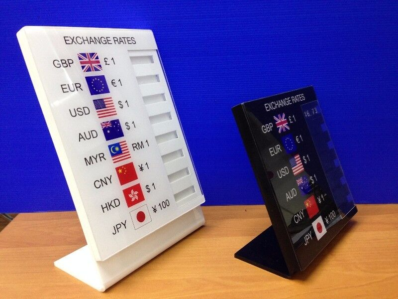 Exchange Rate Sign Price Board Foreign Currency Renosis