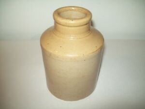 ANTIQUE EARLY MUSTARD CROCK NOT THE LATER USUAL ONES