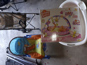 Baby Play Mat , Stroller, Baby seat and Bath Tub