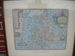 Saxton's Map Of England & Wales