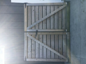Pressure treated gates