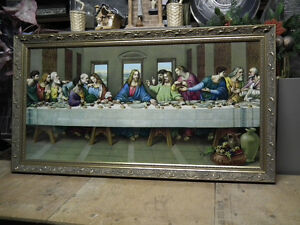 THE LAST SUPPER , GOLD  WOOD FRAME  IMMACULATE . Windsor Region Ontario image 1