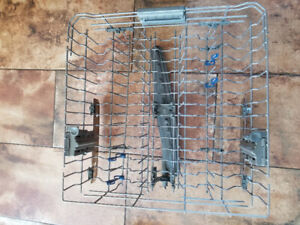 Kitchen Aid dishwasher top and bottom racks and cutlery holder
