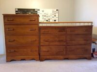 Wood dresser and Highboy from the 60s