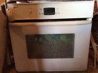 Refrigerator, gas cooktop, wall oven, sink, laundry tub