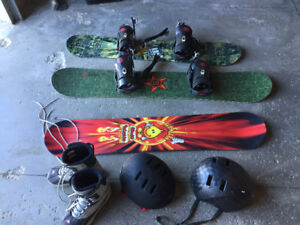 Snowboards and equipment