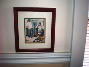 """Normand Rockwell """"Before the Shot"""" or """"At the Doctor's"""", NEUF"""