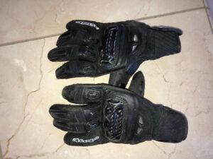 Black Alpinestar Padded Bike Gloves