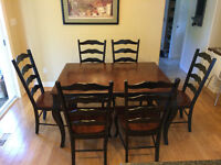 Solid Wood Dining Table and Chiars