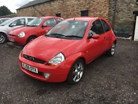 2006 56 Red Ford Ka SPORT SE 1.6, Only 50k Miles, FSH, MOT March 17