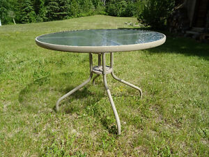 """40"""" Glass Top Patio Tables"""