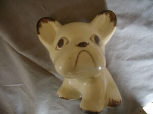 French Bulldog Ceramic Figurine