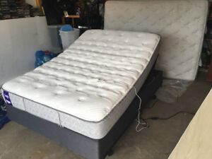 Sealy double mattress and adjustable bed