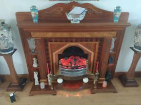 Mahogany wood handmade fireplace