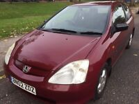 ***P/X TO CLEAR ***HONDA CIVIC S 1.4 PETROL 3 DOOR HATCHBACK LONG MOT