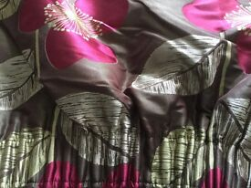 BEAUTIFUL CUSTOM MADE CURTAINS IN HARLEQUIN FABRIC ARKENA DELPHINE