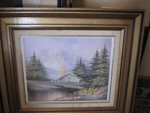 Framed Pair Of Landscape Scene Oil Paintings