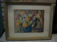 Floral Print by M Gernand signed dated 1952
