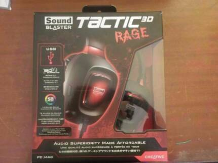 Sound Blaster Tactic3D Rage USB V2.0 Gaming Headset new in box