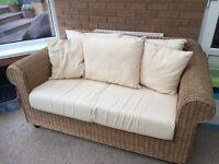 Wicker 2 Seat Sofa