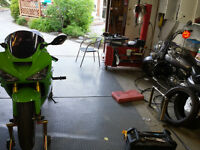Cory's Motorcycle services:Tire change, brakes, oil, chain etc.