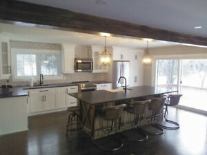 Beautiful kitchen center islands and woodworking.