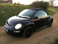 Volkswagen Beetle 1.6 2006 Luna Convertible Black Petrol Manual w/roof