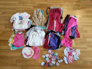 Lot of 118 girls size 3 4 clothes filles very nice look !