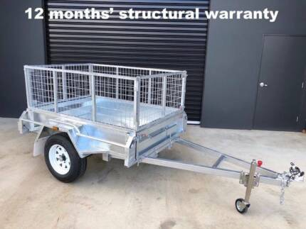 6X4 GALVANISE BOX TRAILER CAGE HEAVY DUTY FULLY WELDED NEW TYRES Kooyong Stonnington Area Preview