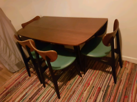 Rare genuine G Plan butterfly table with 4 original chairs