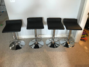 4 stainless steel bar stools