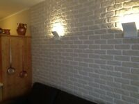 Wall Panels 3d RESIN COATED bricks 110cm X 56cm STUNNING REAL bricks cladding rendering £ 15 each