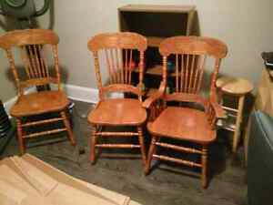 3 Wooden Dining Chairs