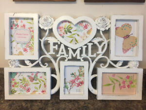 Multi photo family picture frame