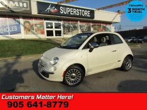 2013 Fiat 500c Lounge  LEATHER CABRIOLET-ROOF HS BT PWR-GROUP AL