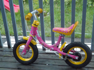 Little Girls Balance Bike with Hand Brake $ 40.00
