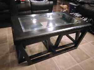 Coffee table with stool inserts