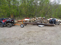 Atv wood skidder