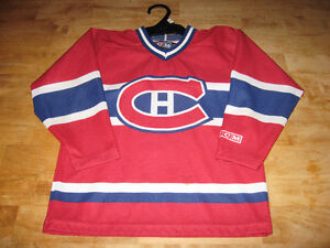 NHL BOYS  KIDS MONTREAL CANADEINS HABS HOCKEY JERSEY CCM