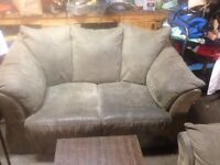 grey chair and love seat $70.00