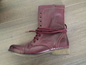 Steve Madden Leather Troopa Boots Size 8