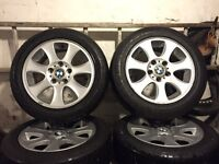 MAKE ME AN OFFER! Bmw alloy wheels really good tyres 5x120 1 2 4 5 6 7 3 series transporter insignia