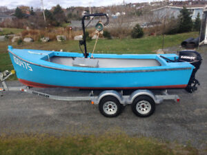 18ft open boat with 40hp e-tec outboard motor