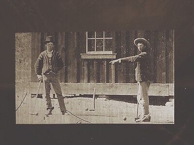 Billy The Kid Croquet Match Closeup Of The  5 Million  Tintype 344Rp