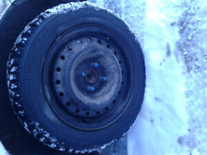15inch 4x100 universal rims and winter tires!!