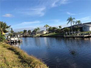 Waterfront Lot Cape Coral Florida USA