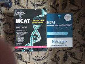 MCAT Kaplan Complete 7-Book  and NextStep Psych and Sociology